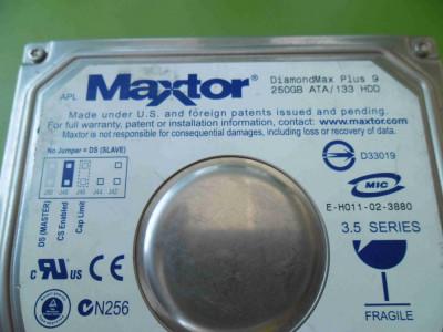 HDD 250GB Maxtor DiamondMax Plus 9 ATA IDE - DEFECT foto