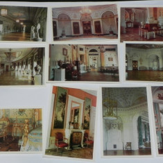 LOT 15 CARTI POSTALE PAVLOVSK GRAND PALACE RUSIA URSS.necirculate. ilustrate arta. vederi