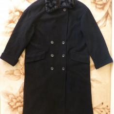 Palton cu guler imblanit detasabil; marime XL, vezi dimensiuni exacte - Palton dama, Culoare: Din imagine