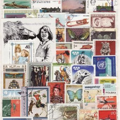 176 - Lot timbre stampilate si nestampilate diverse tari