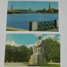 Lot 2 CARTI POSTALE RIGA LETONIA URSS. NECIRCULATE. ilustrate. vederi