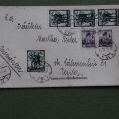 Plicuri circulate AUSTRIA - ROMANIA cu FRANCATURA MIXTA AUSTRIA - D. REICH