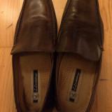 Pantofi piele naturala - maro
