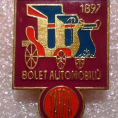 I.322 INSIGNA CEHOSLOVACIA AUTO AUTOCAMION TATRA 80 ANI 26/36mm, Europa