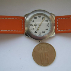 Ceas dama TW Steel original CALYPSO Steel K5102/4 Electronic orange aproape nou, Fashion, Quartz, Inox, Cauciuc, Analog