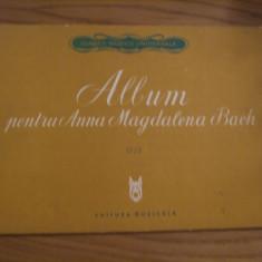 PARTITURA = Album pentru ANNA MAGDALENA BACH - Theodor Balan - 1958, 24 p. - Carte Arta muzicala