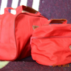 Borseta pentru cosmetice rosie - Borseta Dama