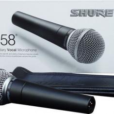 Microfon Shure Incorporated Shure SM58 / Microfon Shure Incorporated pentru karaoke / Microfon Shure Incorporated pentru prezentare spectacole / Microfon Shure Incorporated pentru scena
