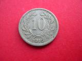 Austria  10  heller  1916, scut diferit pe rv.,varianta mai rara