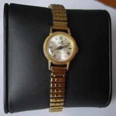 Ceas dama CRONEL Automatic Swiss 983 purtat 17 Jewels Shock Protected auriu