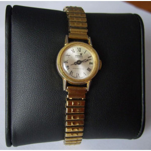 Ceas dama CRONEL Automatic Swiss 983 purtat 17 Jewels Shock Protected auriu