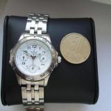 Ceas dama original NOWLEY Cronograph Quartz Electronic 19668BT aproape nou, Elegant, Inox, Analog