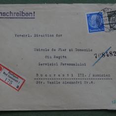 Plicuri circulate D. Reich - Romania cu Cenzura