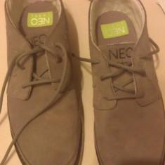 VAND Adidasi Adidas NEO Label nr 41 - Adidasi barbati, Culoare: Gri, Gri, Piele naturala