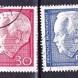 Timbre GERMANIA 1967 - REALEGEREA LUI HEINRICH LUBKE- BUNDES PRESEDINTE - Timbre straine
