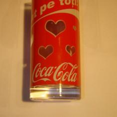 """Pahar de colectie Coca Cola  """"Ne-ai fermecat pe toti!"""""""