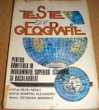 TESTE DE GEOGRAFIE - Silviu Negut / Dumitru Alexandru / Octavian Mandrut