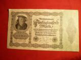 Bancnota 50 000 Marci 1922 Germania cal.Buna-F.Buna ,nr.6 cifre
