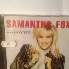 SAMANTHA FOX - GREATEST HITS (1992/VIRGIN REC/GERMANY ) CD NOU/SIGILAT - Muzica Rock emi records