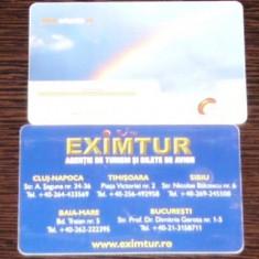 ROMANIA - MICA PUBLICITATE. 2 CARTELE TELEFON ROMTELECOM