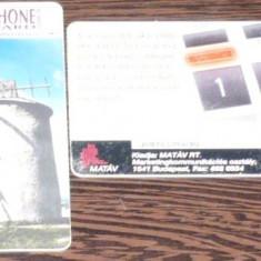 UNGARIA. 2 CARTELE DE TELEFON TEMATICA DIVERSA - Cartela telefonica straina