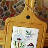 Decoratiune bucatarie / Suport oala - pictat manual - marcat