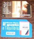 ITALIA. 2 CARTELE TELEFON TEMATICA DIVERSA