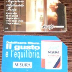 ITALIA. 2 CARTELE TELEFON TEMATICA DIVERSA - Cartela telefonica straina