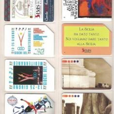 Lot 8 cartele telefonice Italia, teatre, jocuri olimpice, monumente - lot colectie