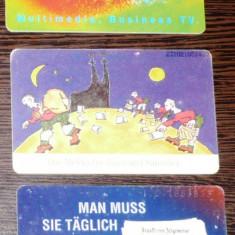 GERMANIA. 3 CARTELE TELEFON tematica diversa - Cartela telefonica straina