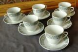 Set / Serviciu - ceai / cafea - portelan China - 6 persoane