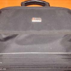 Geanta laptop Alta, 14 inch, Nailon, Negru