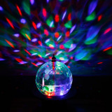 Cumpara ieftin SFERA ROTATIVA CU LEDURI FULL COLOR-MAGIC ROTATE LAMP LIGHT-LUMINA DISCO SENZATIONALA.