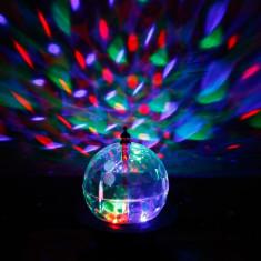 SFERA ROTATIVA CU LEDURI FULL COLOR-MAGIC ROTATE LAMP LIGHT-LUMINA DISCO SENZATIONALA.