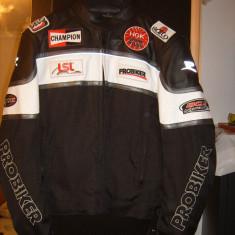 Geaca moto Probiker PIELE si textil 600D marime 56 - Imbracaminte moto Probiker, Geci