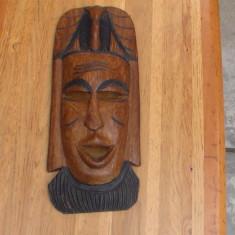 Sculptura in lemn, masca africana/ nr68
