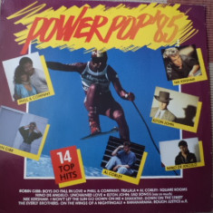 Power Pop 1985 14 top hits disc vinyl muzica pop rock compilatie hituri anii 80, VINIL