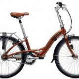 Vand bicicleta pliabila dahon glide p8, 24 inch, Numar viteze: 7, Aluminiu, Caramiziu, 105 kg