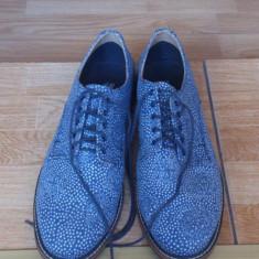 Vand Pantofi H & M, marimi 41, 42 - Pantofi barbati H&m, Culoare: Albastru, Albastru