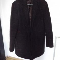 Palton barbatesc Zara - Palton barbati Zara, Marime: 52, Culoare: Argintiu, Marime: 42, Lana