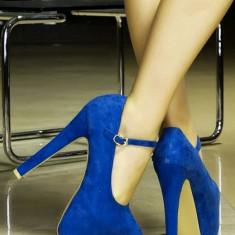 Pantofi Melissa cu toc inalt - Pantof dama Melissa, Albastru, Marime: 38