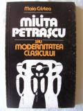 """""""MILITA PETRASCU SAU MODERNITATEA CLASICULUI"""", Maia Cristea,1982. Carte noua, Litera"""