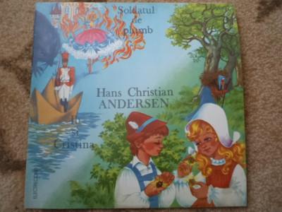 SOLDATUL DE PLUMB IB SI CRISTINA HANS CHRISTIAN ANDERSEN povesti disc vinyl lp foto