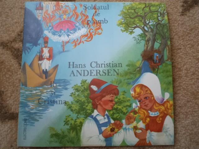 SOLDATUL DE PLUMB IB SI CRISTINA HANS CHRISTIAN ANDERSEN povesti disc vinyl lp