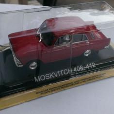 Macheta metal DeAgostini Moskvitch 408 sigilata+revista Masini de Legenda nr.10 - Macheta auto, 1:43