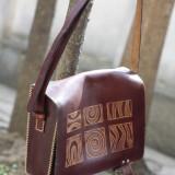 Geanta piele handmade - Geanta handmade