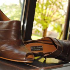 Zara, pantofi piele - Pantof dama Zara, Culoare: Maro, Marime: 39, Maro
