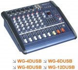 MIXER AUDIO AMPLIFICAT/PUTERE ,6 CANALE,EFECTE DIGITALE VOCE,MP3 PLAYER INCLUS,300 WATT.