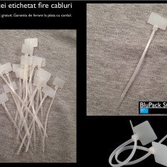 Colier Plastic soricel Set 20 buc. prevazut cu eticheta plastic Organizare Fire Cabluri Etichetat