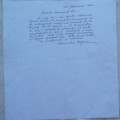 Scrisoare a lui Corneliu Coposu catre Viorel Lis , primarul Bucurestiului , 1994